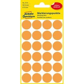 Markierungspunkte 18mm ø leuchtorange Zweckform 3173 (PACK=96 STÜCK) Produktbild
