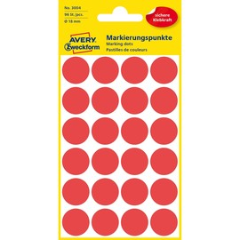 Markierungspunkte 18mm ø rot Zweckform 3004 (PACK=96 STÜCK) Produktbild