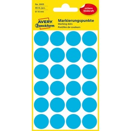 Markierungspunkte 18mm ø blau Zweckform 3005 (PACK=96 STÜCK) Produktbild