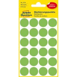 Markierungspunkte 18mm ø leuchtgrün Zweckform 3174 (PACK=96 STÜCK) Produktbild