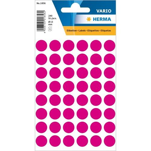 Markierungspunkte 13mm ø pink Herma 1856 (BTL=240 STÜCK) Produktbild