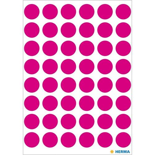 Markierungspunkte 13mm ø pink Herma 1856 (BTL=240 STÜCK) Produktbild Additional View 1 L
