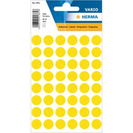 Markierungspunkte 13mm ø gelb Herma 1861 (BTL=240 STÜCK) Produktbild