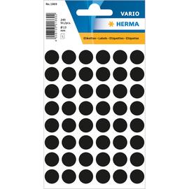 Markierungspunkte 13mm ø schwarz Herma 1869 (BTL=240 STÜCK) Produktbild