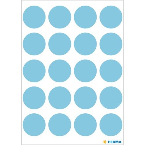Markierungspunkte 19mm ø blau Herma 1873 (BTL=100 STÜCK) Produktbild Additional View 1 L