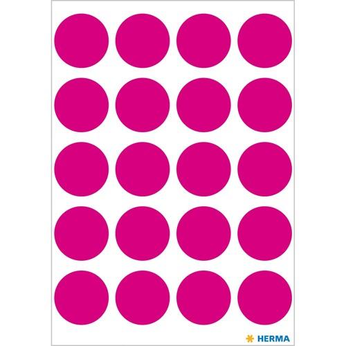 Markierungspunkte 19mm ø pink Herma 1886 (BTL=100 STÜCK) Produktbild Additional View 1 L