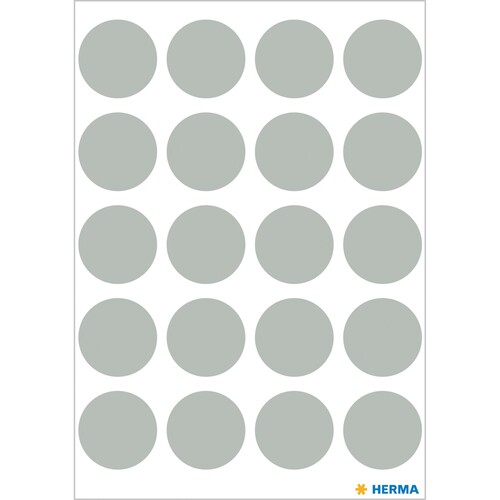 Markierungspunkte 19mm ø grau Herma 1888 (BTL=100 STÜCK) Produktbild Additional View 1 L