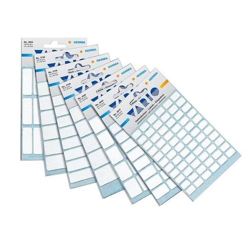 Vielzweck-Etiketten für Handbeschriftung 12x34mm weiß Herma 3650 (BTL=126 STÜCK) Produktbild Additional View 1 L