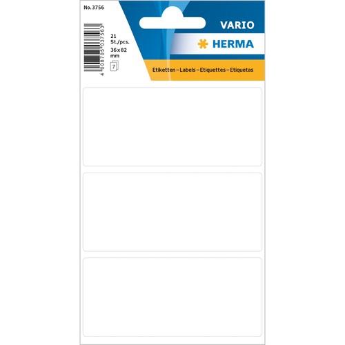 Vielzweck-Etiketten für Handbeschriftung 36x82mm weiß Herma 3756 (BTL=21 STÜCK) Produktbild