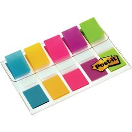 Haftstreifen Post-it Index Mini 11,9x43,2mm 5 Leuchtfarben transparent 3M 6835CBEU (PACK=5x 20 STÜCK) Produktbild