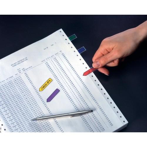 Haftstreifen Post-it Index Pfeile 11,9x43,2mm 4 Grundfarben transparent 3M 684ARR3 (PACK=4x 24 STÜCK) Produktbild Additional View 4 L