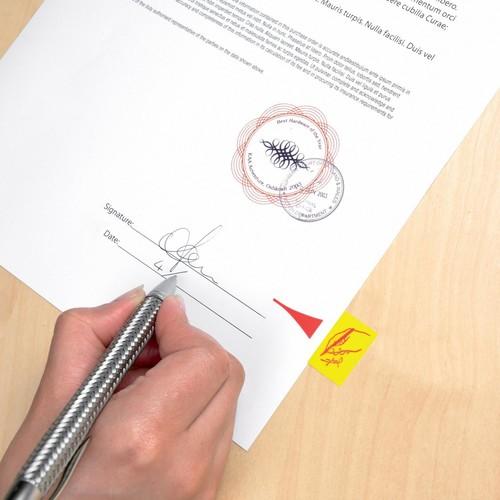 Haftstreifen Post-it Index Symbol Unterschrift 25,4x43,2mm gelb transparent 3M 680-31 (PACK=50 STÜCK) Produktbild Additional View 5 L