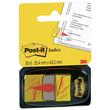 Haftstreifen Post-it Index Symbol Unterschrift 25,4x43,2mm gelb transparent 3M 680-31 (PACK=50 STÜCK) Produktbild Additional View 1 S