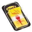 Haftstreifen Post-it Index Symbol Unterschrift 25,4x43,2mm gelb transparent 3M 680-31 (PACK=50 STÜCK) Produktbild
