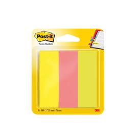 Haftstreifen Post-it Page Marker 25x76mm 3 Neonfarben Papier 3M 671-3 (PACK=3x 100 STÜCK) Produktbild