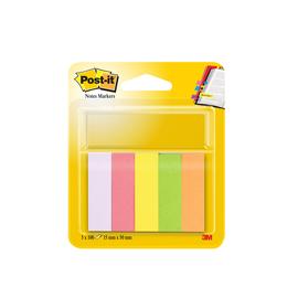 Haftstreifen Post-it Page Marker 15x50mm 5 Neonfarben Papier 3M 670-5 (PACK=5x 100 STÜCK) Produktbild
