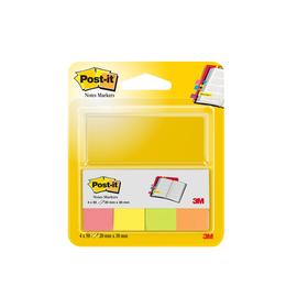 Haftstreifen Post-it Page Marker 20x38mm 4 Neonfarben Papier 3M 670-4N (PACK=4x 50 STÜCK) Produktbild