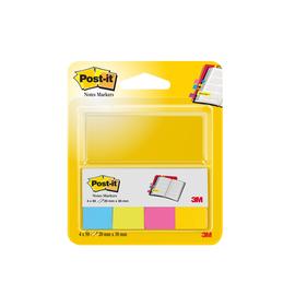 Haftstreifen Post-it Page Marker 20x38mm 4 Ultrafarben Papier 3M 670-4U (PACK=4x 50 STÜCK) Produktbild