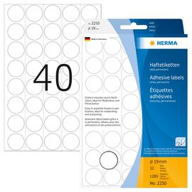 Markierungspunkte 19mm ø weiß Herma 2250 (PACK=1280 STÜCK) Produktbild