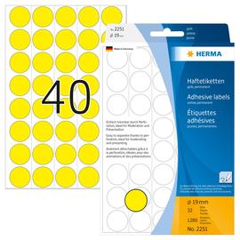 Markierungspunkte 19mm ø gelb Herma 2251 (PACK=1280 STÜCK) Produktbild