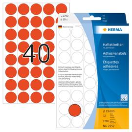 Markierungspunkte 19mm ø rot Herma 2252 (PACK=1280 STÜCK) Produktbild