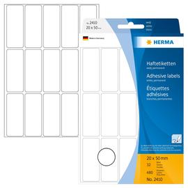 Vielzweck-Etiketten für Handbeschriftung 20x50mm weiß Herma 2410 (PACK=480 STÜCK) Produktbild