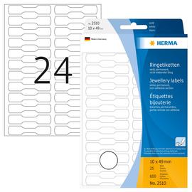 Vielzweck-Etiketten für Handbeschriftung 10x49mm weiß Herma 2510 (PACK=600 STÜCK) Produktbild