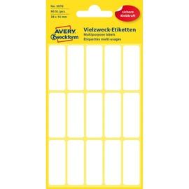 Mini-Etiketten für Handbeschriftung 38x14mm weiß Zweckform 3076 (PACK=90 STÜCK) Produktbild
