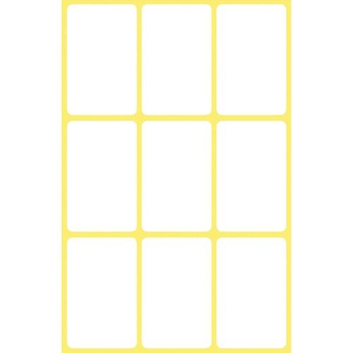 Mini-Etiketten für Handbeschriftung 38x24mm weiß Zweckform 3045 (PACK=63 STÜCK) Produktbild Additional View 1 L