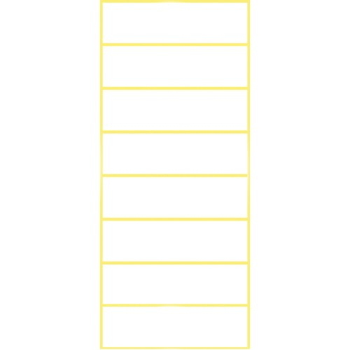 Universal-Etiketten für Handbeschriftung 50x14mm weiß Zweckform 3086 (PACK=64 STÜCK) Produktbild Additional View 1 L