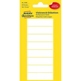 Universal-Etiketten für Handbeschriftung 50x14mm weiß Zweckform 3086 (PACK=64 STÜCK) Produktbild