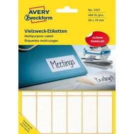 Universal-Etiketten für Handbeschriftung 50x19mm weiß Zweckform 3327 (PACK=486 STÜCK) Produktbild