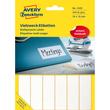 Universal-Etiketten für Handbeschriftung 76x19mm weiß Zweckform 3328 (PACK=324 STÜCK) Produktbild