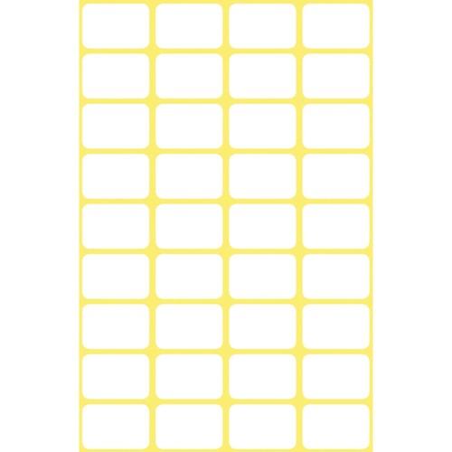 Mini-Etiketten für Handbeschriftung 18x12mm weiß Zweckform 3042 (PACK=216 STÜCK) Produktbild Additional View 1 L