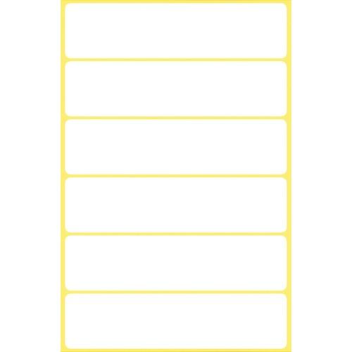 Universal-Etiketten für Handbeschriftung 76x19mm weiß Zweckform 3080 (PACK=36 STÜCK) Produktbild Additional View 1 L