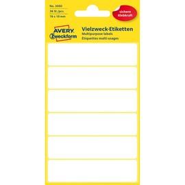 Universal-Etiketten für Handbeschriftung 76x19mm weiß Zweckform 3080 (PACK=36 STÜCK) Produktbild