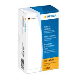 Frankieretiketten doppelt 130x40mm weiß Herma 4328 (PACK=500 STÜCK) Produktbild