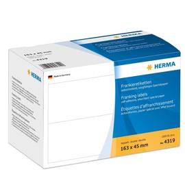 Frankieretiketten doppelt 163x45mm weiß Herma 4319 (PACK=1000 STÜCK) Produktbild