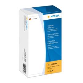 Frankieretiketten doppelt 163x45mm weiß Herma 4329 (PACK=500 STÜCK) Produktbild