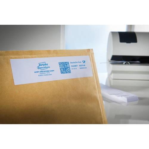 Frankieretiketten einzeln 168x44mm weiß Zweckform 3432 (PACK=1000 STÜCK) Produktbild Additional View 1 L