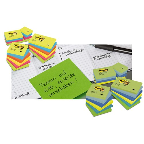 Haftnotizen Post-it Notes 51x76mm gelb Papier 3M 656 (ST=100 BLATT) Produktbild Additional View 4 L