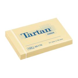 Haftnotizen Tartan Notes 51x76mm gelb Papier 3M 005176 (PACK=12x 100 BLATT) Produktbild