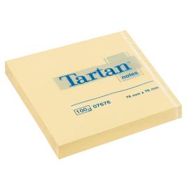 Haftnotizen Tartan Notes 76x76mm gelb Papier 3M 007676 (PACK=12x 100 BLATT) Produktbild