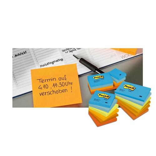 Haftnotizen Post-it Notes 76x76mm gelb Papier 3M 654 (ST=100 BLATT) Produktbild Additional View 2 L