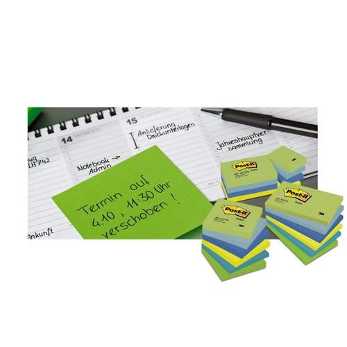 Haftnotizen Post-it Notes 76x76mm gelb Papier 3M 654 (ST=100 BLATT) Produktbild Additional View 3 L