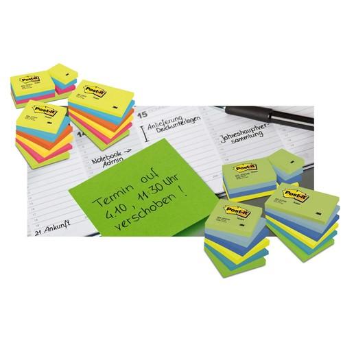 Haftnotizen Post-it Notes 76x76mm gelb Papier 3M 654 (ST=100 BLATT) Produktbild Additional View 4 L