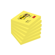 Haftnotizen Post-it Notes 76x76mm neongelb Papier 3M 654NGE (ST=100 BLATT) Produktbild
