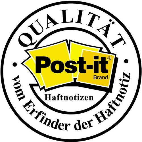 Haftnotizen Post-it Notes 76x76mm neongelb Papier 3M 654NGE (ST=100 BLATT) Produktbild Additional View 4 L