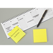 Haftnotizen Post-it Notes 76x76mm neongelb Papier 3M 654NGE (ST=100 BLATT) Produktbild Additional View 3 S