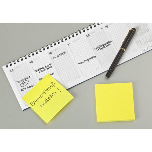 Haftnotizen Post-it Notes 76x76mm neongelb Papier 3M 654NGE (ST=100 BLATT) Produktbild Additional View 3 L